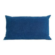 Handmade Indigo Dyed Silk Cushion by Katherine May