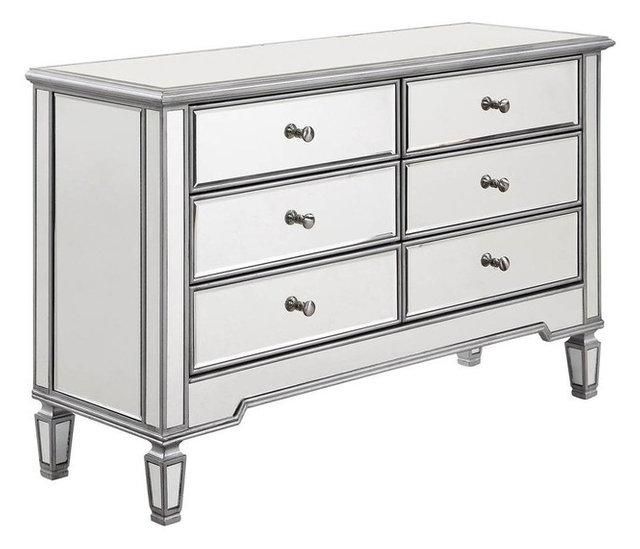 6 Drawer Storage Cabinet, Silver