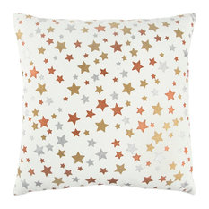 Rizzy Home Cotton Duck Fabric Pillow, Ivory