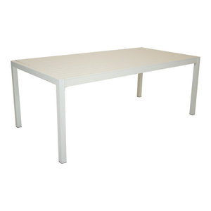 Outdoor Palm Dining Table, White