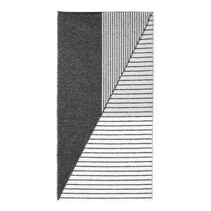 Stripe Woven Vinyl Floor Cloth, Grey, 70x140 Cm