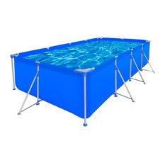 "Above Ground Swimming Pool Steel Rectangular 12' 11"" x 6' 10"" x 2' 7"""