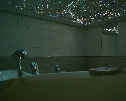 Star ceiling fiber optic led panels in bathroom sauna spa wellness aloadofball Gallery