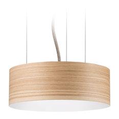 Veneli Slim Pendant Light, Natural Ash Veneer, Small
