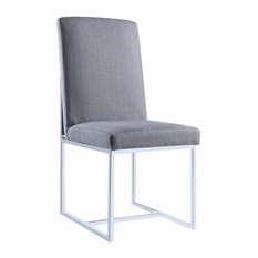 Modern Floating Dining Side Chair, Gray, Set of 2