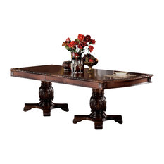 ACME Chateau De Ville Dining Table with Double Pedestal, Cherry