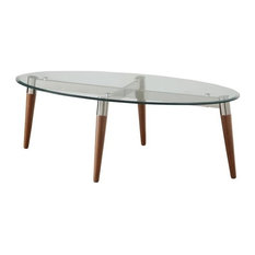 oval glass top coffee tables | houzz