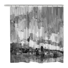 Laural Home - Gray Glacier Shower Curtain - Shower Curtains