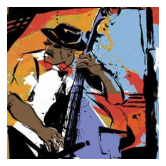 Jazz Man by Cathy Johnson Canvas Print