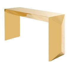 Gold Console Table | Eichholtz Carlow Gold 61-inchW X 18-inchD X 30-inchH