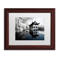 "Philippe Hugonnard 'Reflections I' Art, Wood Frame, White Matte, 14""x11"""