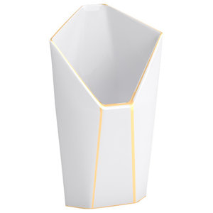 Cone Faceted Porcelain Vase