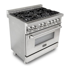 """Z Line Kitchen and Bath - Gas Burner/Electric Oven Range, Stainless Steel, 36"""" - Gas Ranges and Electric Ranges"""