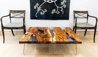 Bespoke Furniture Design: Yew Wood + Resin Coffee Table