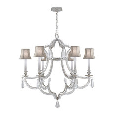 """Prussian Neoclassic Chandelier, 34""""x34"""", Weathered Silver Gray"""
