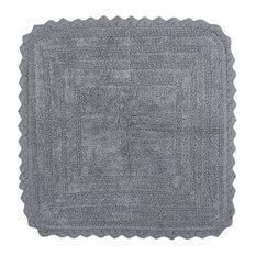 DII Gray Square Crochet Bath Mat