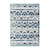 Contemporary Abstract Diamond Moroccan Trellis 5x8 Indoor and Outdoor Area Rug