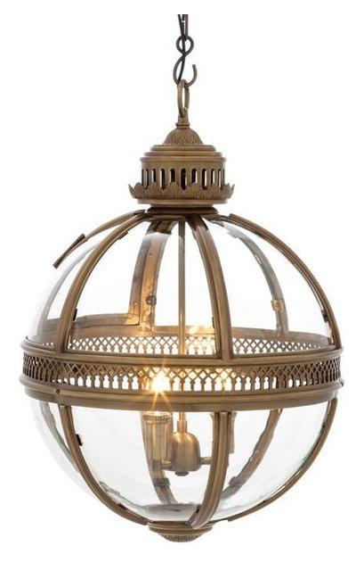 eichholtz owen lantern traditional pendant lighting. Golden Lantern, Eichholtz Residential, M, Gold, Owen Lantern Traditional Pendant Lighting