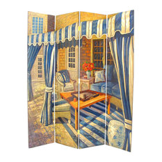 Wayborn Home Furnishing Inc   Wayborn Hand Painted The Patio Room Divider    Screens And Room