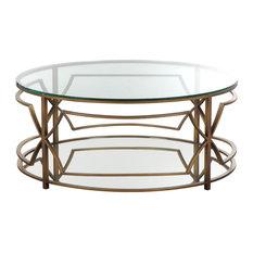 Edward Round Coffee Table Brass