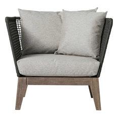 Netta Lounge Chair, Dark Gray Cord and Weathered Eucalyptus