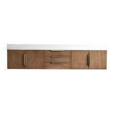 "Mercer Island 72"" Double Vanity Latte Oak"
