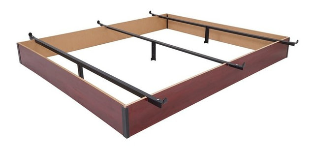 Mantua Cherry Finish Wood Bed Base - Transitional - Bed Frames - by ...