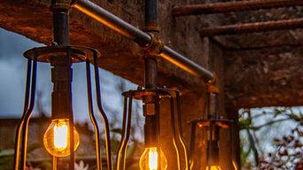 Industrial style bar lighting