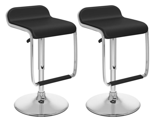 Sonax Corliving Bar Stools With Footrest Black