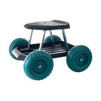 Rolling Garden Work Scooter with Tool Tray by Pure Garden