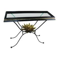 Black Wrought Iron Artichoke Console Table Ornate Gold Sofa Baroque