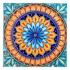 "Italian Ceramic Tile, Geometrico 60B, Made in Deruta, Italy, 8x8"""