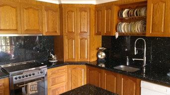 timber kitchen ,blackwood,stonebench tops