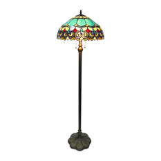 CHLOE Lighting AUBREY Victorian 2-Light Antique Dark Bronze Floor Lamp 18""