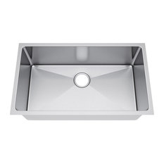 "30""x19"" Single Bowl Undermount Stainless Steel Kitchen Sink, Without Strainer"