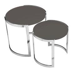 Omni Nesting Side Tables, 2-Piece Set, Gray