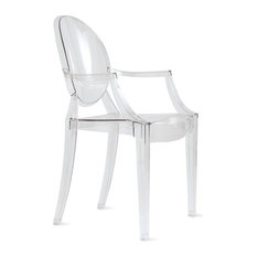 Louis Ghost Chair, Set of 2, Transparent Crystal