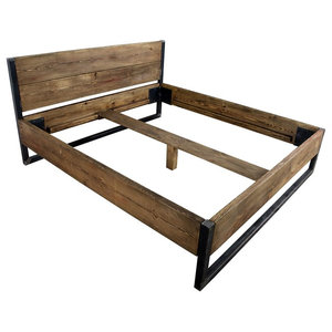 Verdon Solid Wooden Bed, Euro King