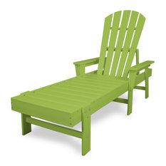 Polywood South Beach Chaise, Lime