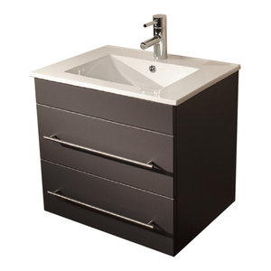 Emotion Milet Bathroom Furniture, 60.5 cm, Anthracite Semi-Gloss