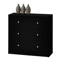 May 3-Drawer Chest, Black