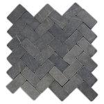 "CNK Tile - 11""x12"" Gray Herringbone Stone Mosaic Tile - Usage:"