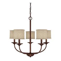 Capital Lighting 3925BB-468 Loft 5-Light Chandelier, Burnished Bronze