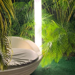 Artkalia - Toscaa LED Lamp - Perfect  to add  modern touch  anywhere with its pure line  the Toscaa is wired with LED tube for 360 degree light diffusion. ( Wired  LED Floor lamp, Polyethylene body, Indoor/Outdoor light, LED tube (1) Cool White 6500K 20W, Shock resistant, Designed and Manufactured in Europe, Waterproof IP65, certified: CE, ROHS, FCC)