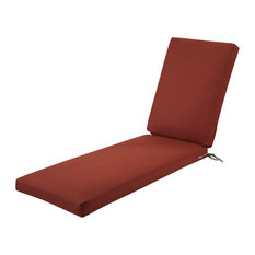 "Patio Chaise Lounge Cushion Slip Cover and Foam, Spice, 72""x21""x3"""
