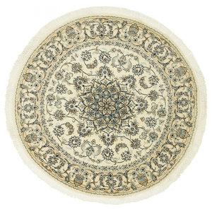 Nain 9La Persian Rug, Round Hand-Knotted, 148x148 cm