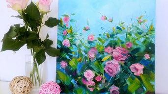 Картина маслом «Rose garden»