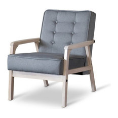 Great Baxton Studio   Baxton Studio Mid Century Timor Club Chair, Gray   Armchairs  And