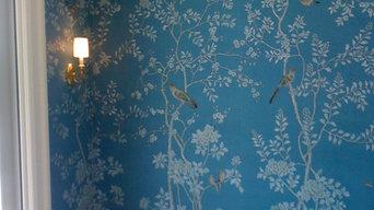 de Gournay handpainted wallpaper on silk