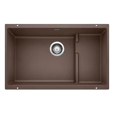 """Blanco 519457 18.13""""x28.8"""" Granite Single Undermount Kitchen Sink, Cafe Brown"""